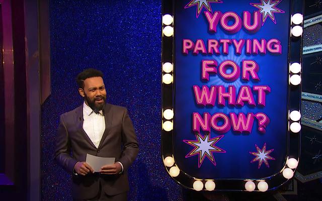 アンバー・ラフィンは、COVIDアメリカで最もホットなゲーム番組、You Partying For What Now?