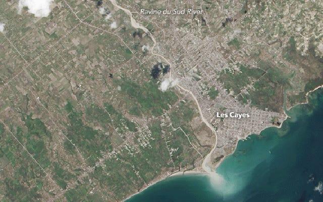Des images satellites montrent Haïti mis à nu par l'ouragan Matthew