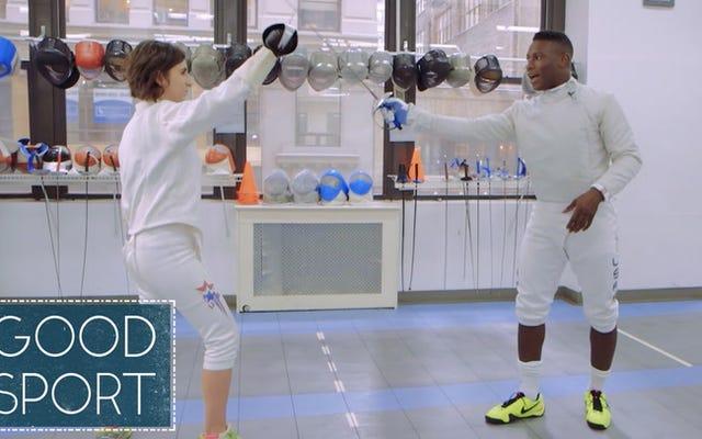 Zobacz, jak srebrny medalista olimpijski Daryl Homer uczy nas w szermierce szablą