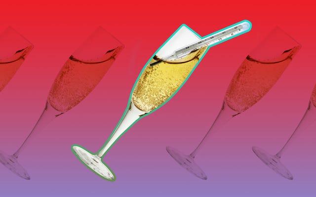 シャンパンには理想的な温度があります