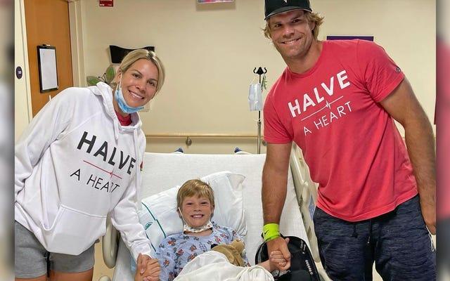 Il est temps de sourire alors que le fils de Greg Olsen a un donneur cardiaque