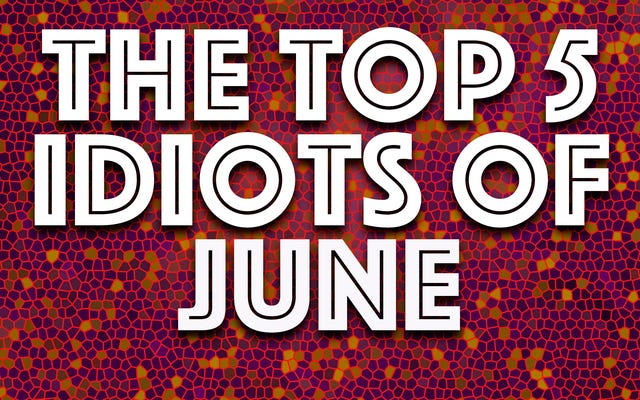 Les idiots du mois : le pire du mois de juin