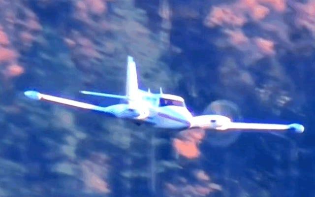 完璧な緊急着陸:車輪がなく、航空機のプロペラに損傷を与えることもありません