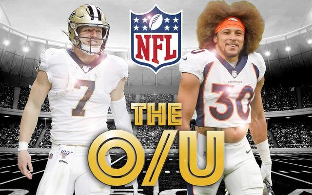 Deadspin NFL ओवर / अंडर बेट ऑफ़ द वीक: ब्रोंकोस रोल अप विथ नो QB