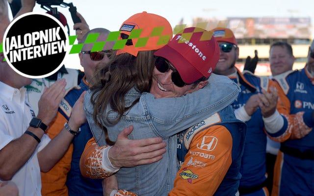 スコットディクソンがインディカーチャンピオンシップと実生活のバランスをとる