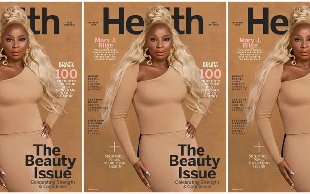 Mary J. Blige, más saludable y feliz que nunca, encarna la revista #QuarantineGoals para la salud