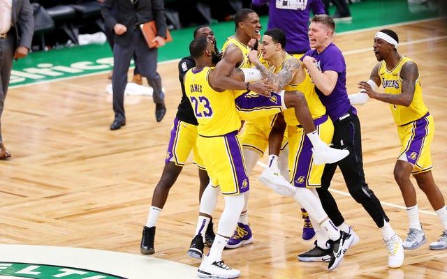 Les Lakers retrouvent une certaine dignité avec une victoire dramatique sur la route contre les redoutés Celtics