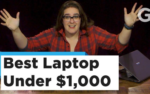 Esta es la computadora portátil perfecta por menos de $ 1,000