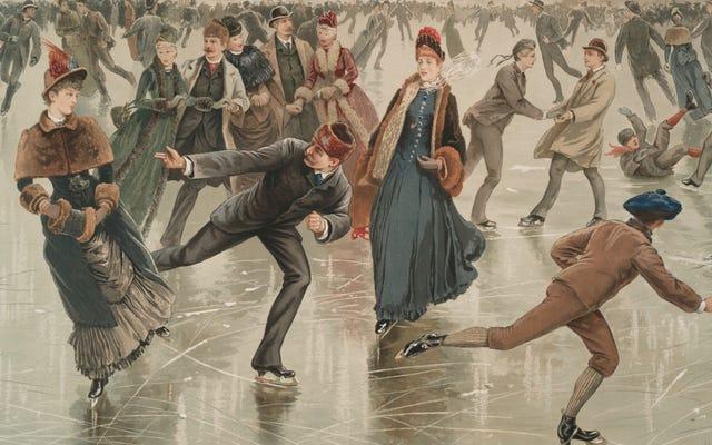 絶対的なお尻のようににおいがする素敵な初期のビクトリア朝のアイススケートリンク