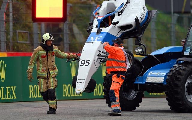Seis conductores de la serie W milagrosamente bien después de la terrible acumulación de seis coches en Spa-Francorchamps