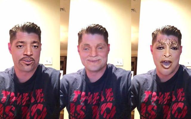 Face Swapアプリを使用すると、この男性を「We AreTheWorld」の全員にすることができます。