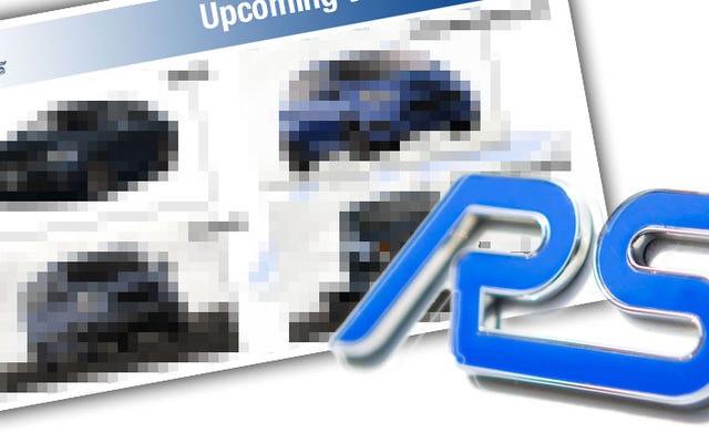 ESCLUSIVO: Il documento Ford trapelato suggerisce che molti altri modelli RS stanno arrivando