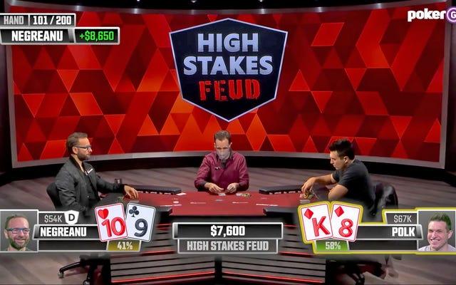 Tidak ada yang berjalan seperti yang diharapkan dalam duel poker Negreanu / Polk UPDATE: Polk memposting kemenangan besar