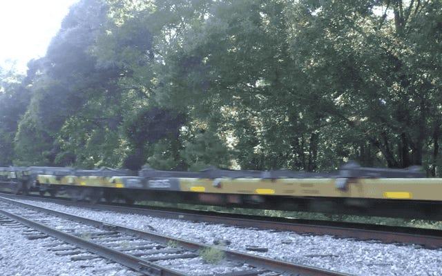Tak wygląda pociąg załadowany odpadami radioaktywnymi