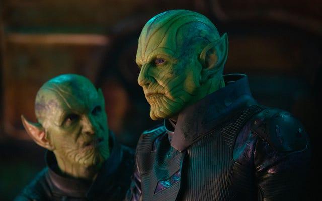 Los actores del gato del Capitán Marvel tuvieron problemas para actuar con los Skrulls