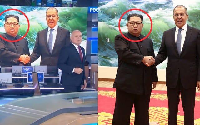 ロシアのテレビは、キム・ジョンウンの顔に笑顔を加えて、クレムリンとの出会いについて話します