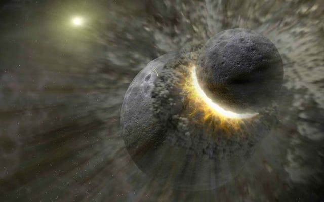 別の惑星との激しい衝突は、地球に生命の材料を植え付けた可能性があります