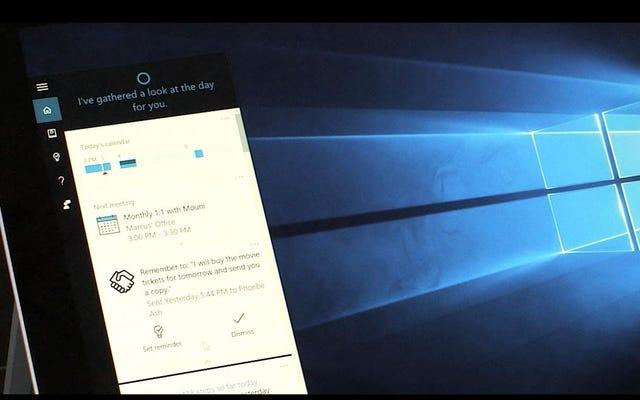 Cortanaは、電子メールに基づいてリマインダーをプッシュし、カレンダーイベントにコンテキストを追加するようになりました