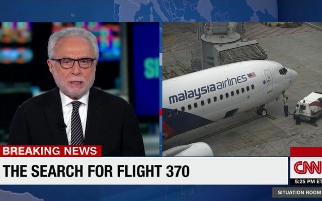 Wolf Blitzer, nervioso, reduce la cobertura de un avión en Malasia para distraerse de la falta de resultados concretos