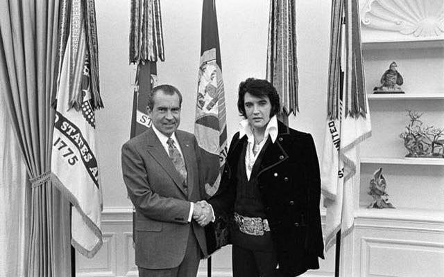 国立公文書館で最もリクエストの多い写真はニクソンとエルビスです