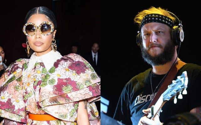 """Nicki Minaj sigue saliendo sobre """"el hombre blanco Bon Iver"""" venciéndola en los Grammy 2012"""