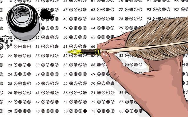 ¿Qué sucede cuando un hombre de 38 años toma un examen de historia AP?