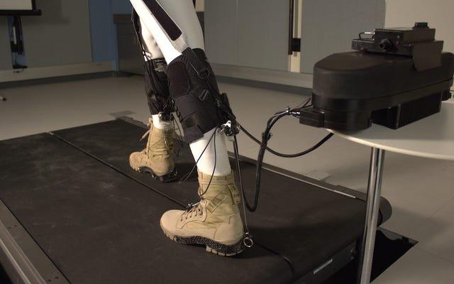 Этот роботизированный экзоскелет экономит драгоценную энергию человеческого тела