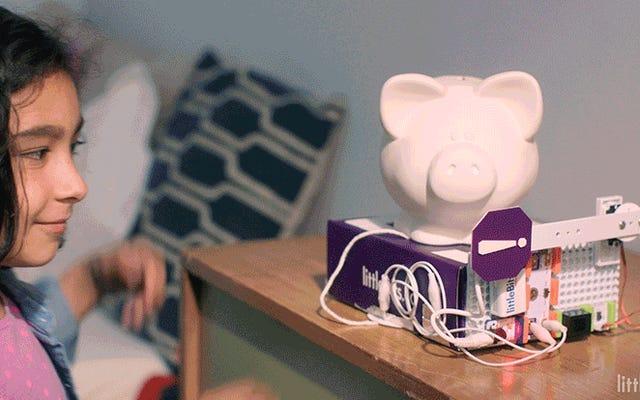 このLittleBitsキットを使用すると、子供は自分の部屋をブービートラップできます