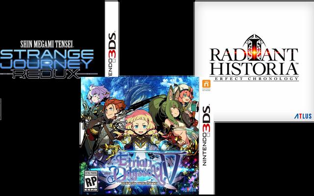 Atlus, Kuzey Amerika İçin Üçlü 3DS RPG'yi Duyurdu