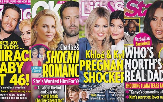 今週のタブロイド紙:ベン・アフレックとシャーリーズ・セロンがクソで、クリス・ジェンナーの鼻が落ちている