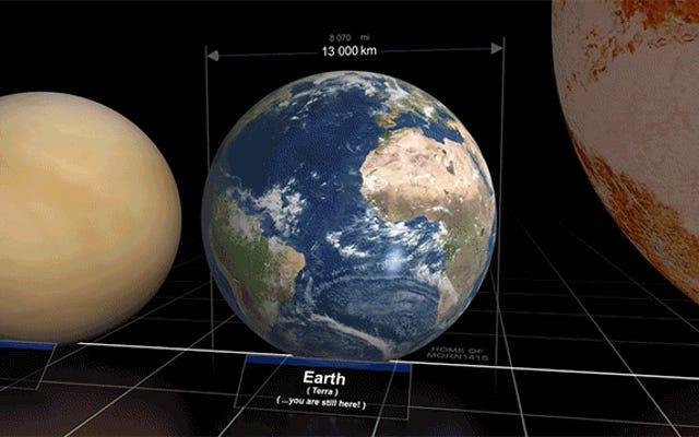 วิดีโอที่ยอดเยี่ยมเปรียบเทียบขนาดของดาวเคราะห์และดวงดาวต่างๆ ในจักรวาล