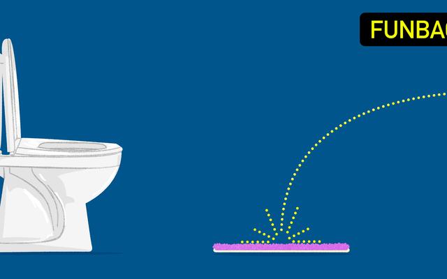 Ne pisse pas sur ton tapis de bain