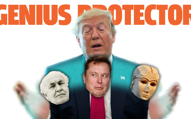 トランプ大統領は、イーロンマスク、トーマスエジソン、そして車輪を発明した人のような天才を保護したいと考えています
