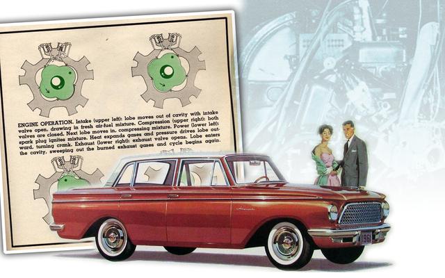 Rambler développait autrefois un moteur rotatif non Wankel vraiment étrange