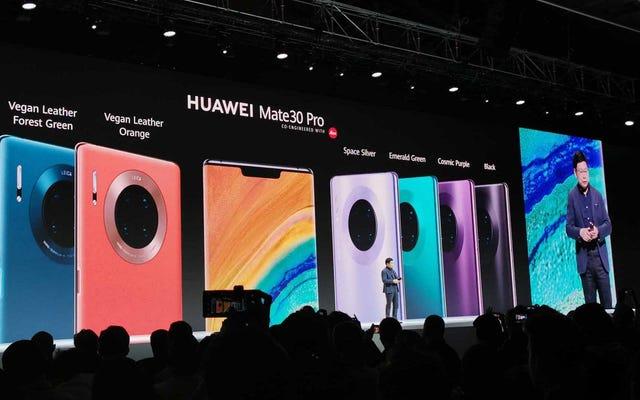 Huawei Mate 30 поставляется с изогнутым экраном, четырехъядерной камерой (и да, с Android).