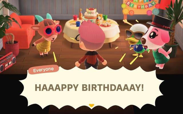 Merci pour la belle fête d'anniversaire, amis Animal Crossing