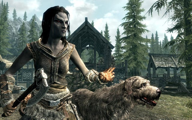 プレイヤーは、犬を採用しようとしてスカイリムで彼の人生の冒険を生きることになります