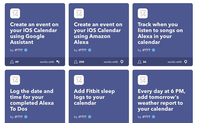 IFTTTがiPhoneカレンダーとAppStoreのサポートを追加