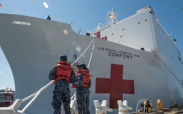 Porto Riko, Hastaları Hastane Gemisine Getirmek İçin Çağrı Merkezine, Kurtarma Aramalarına ve Helikopterlere Dönüyor