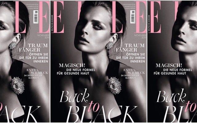 Quindi, parliamo di quel periodo Elle Germany ha ridotto i modelli neri a una tendenza della moda ...