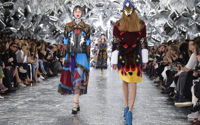Strap In For Some Campy Dress-Up chez Mary Katrantzou et House of Holland