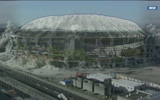 Les Red Sox diffusent une vidéo de l'implosion du métrodome qui ne s'est jamais produite