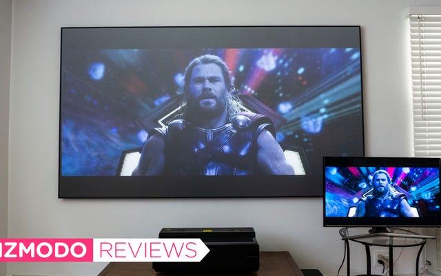 El absurdo televisor láser de 100 pulgadas de Hisense me convirtió en un creyente de la pantalla grande