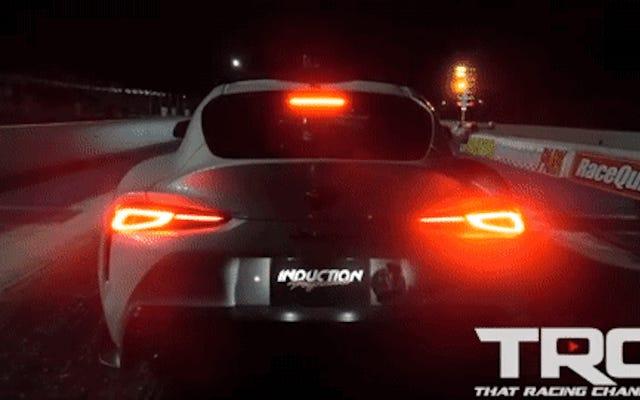 Guy, Bayiden 2020 Toyota Supra'yı Seçti, Doğrudan Drag Şeridine Taşıyor, Kavrama Mücadelesi