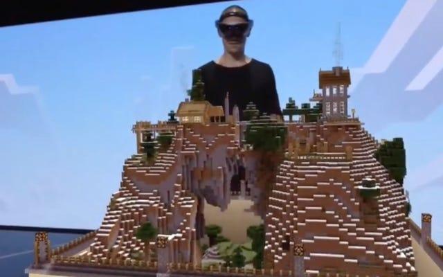 J'ai joué à Minecraft avec HoloLens de Microsoft, et c'était assez génial