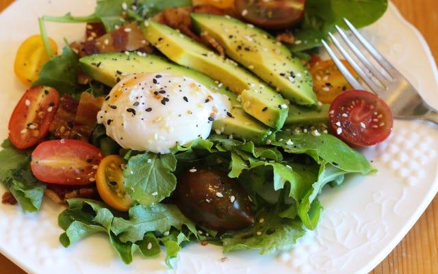 Обращение к салату на завтрак