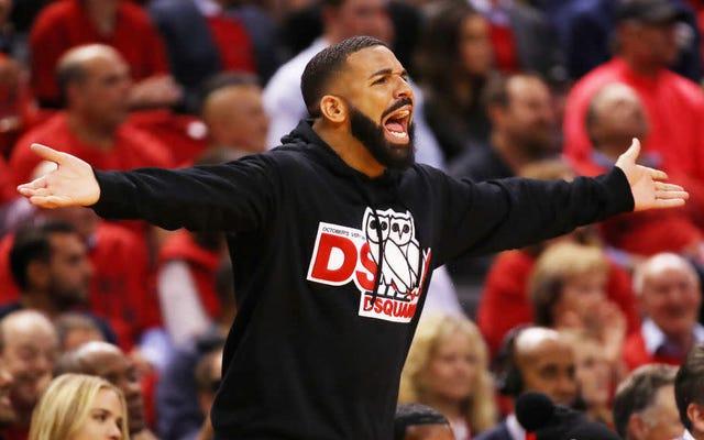 Drake wycina spoconą promocję o tym, jak fani Raptors są naprawdę dobrzy w przestrzeganiu zasad