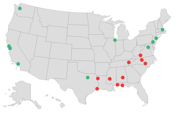 新卒者がキャリアを開始するための最良および最悪の都市