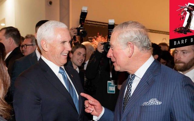 El príncipe Carlos apesta tanto como Mike Pence