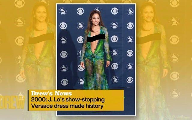 待って、彼らはJ. Loの象徴的な緑のヴェルサーチドレスをデイタイムテレビで無修正で表示することはできませんか?
